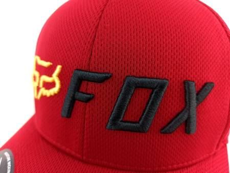 Czapka z daszkiem FOX Apex Flexfit red