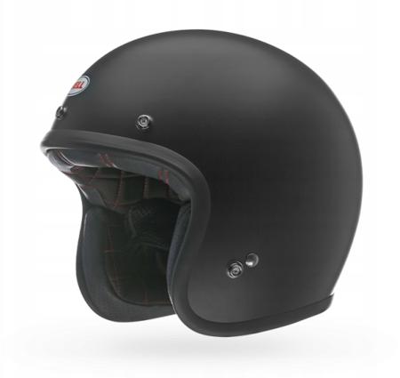 Kask BELL Custom 500 black matt z wizjerem bubble silver