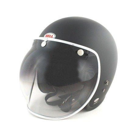 Kask BELL Custom 500 black matt z wizjerem bubble smoke