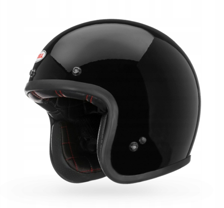 Kask BELL Custom 500 black  z wizjerem bubble dark smoke