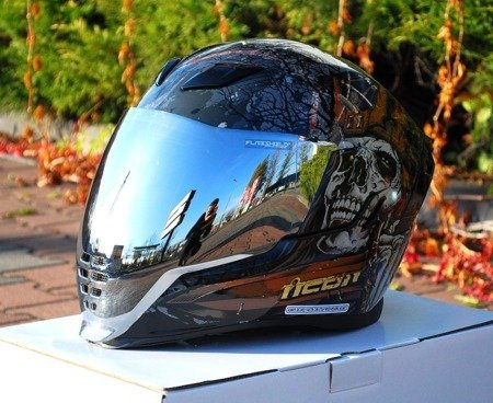Kask ICON AIRFLITE Uncle Dave silver mirror