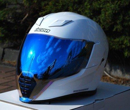 Kask ICON AIRFLITE white blue mirror