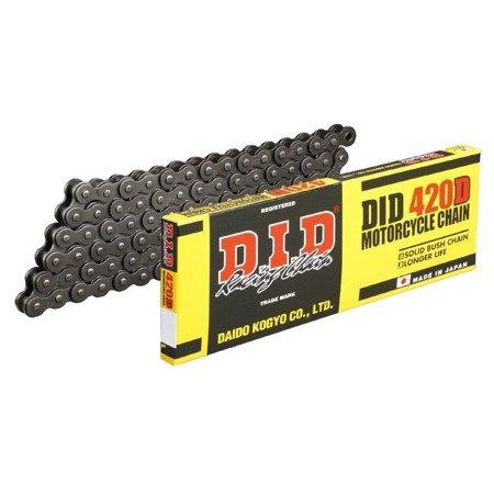 Łańcuch napędowy DID 420D 124 ogniw otwarty z zapinką klipsem