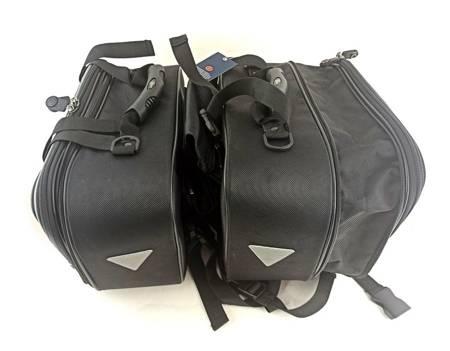 Motocyklowe sakwy tekstylne uniwersalne QBag SET01
