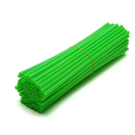 Nakładki na szprychy ACCEL zielony fluo