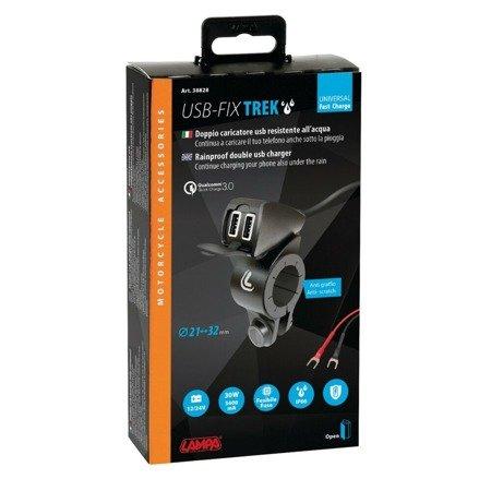 Podwójne gniazdo ładowarka USB Fast Charge Trek 5400mA z okablowaniem