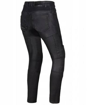 Spodnie damskie jeans OZONE Roxy Waxed black lady