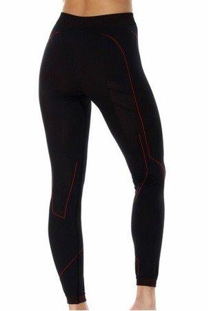 Spodnie termoaktywne BRUBECK Cooler damskie czarny - czerwony