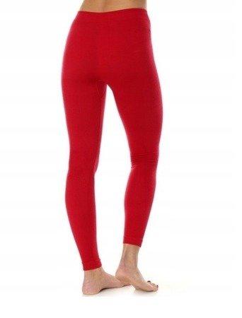 Spodnie termoaktywne damskie Brubeck MERINO Extreme Wool malina LE11130